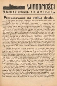 Wiadomości Parafii Katedralnej. 1937, nr 18