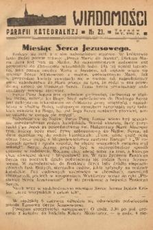 Wiadomości Parafii Katedralnej. 1937, nr 21