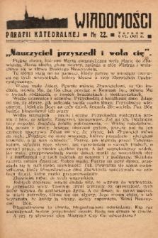 Wiadomości Parafii Katedralnej. 1937, nr 22