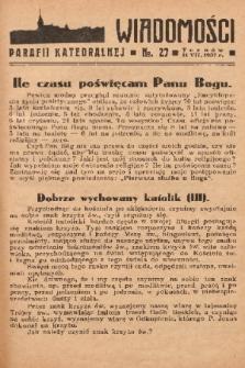 Wiadomości Parafii Katedralnej. 1937, nr 27