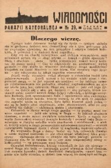 Wiadomości Parafii Katedralnej. 1937, nr 29