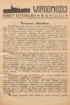 Wiadomości Parafii Katedralnej. 1937, nr 31