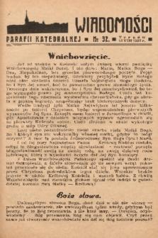 Wiadomości Parafii Katedralnej. 1937, nr 32