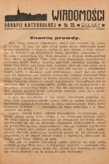 Wiadomości Parafii Katedralnej. 1937, nr 33