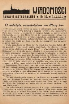 Wiadomości Parafii Katedralnej. 1937, nr 34