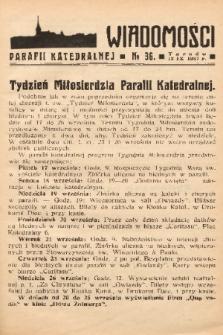 Wiadomości Parafii Katedralnej. 1937, nr 36