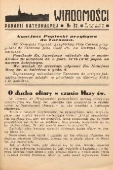 Wiadomości Parafii Katedralnej. 1937, nr 37