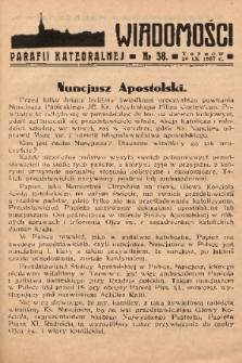 Wiadomości Parafii Katedralnej. 1937, nr 38