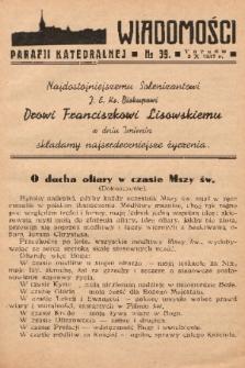 Wiadomości Parafii Katedralnej. 1937, nr 39