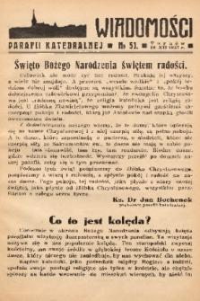 Wiadomości Parafii Katedralnej. 1937, nr 51