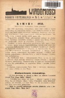 Wiadomości Parafii Katedralnej. 1938, nr 1