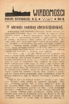 Wiadomości Parafii Katedralnej. 1938, nr 2