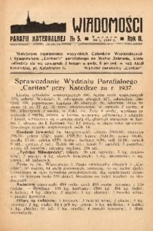 Wiadomości Parafii Katedralnej. 1938, nr 5