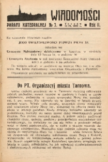 Wiadomości Parafii Katedralnej. 1938, nr 7
