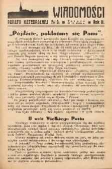 Wiadomości Parafii Katedralnej. 1938, nr 9