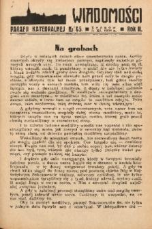 Wiadomości Parafii Katedralnej. 1938, nr 45
