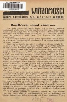 Wiadomości Parafii Katedralnej. 1939, nr 1
