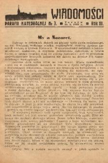 Wiadomości Parafii Katedralnej. 1939, nr 3