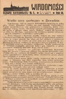 Wiadomości Parafii Katedralnej. 1939, nr 4