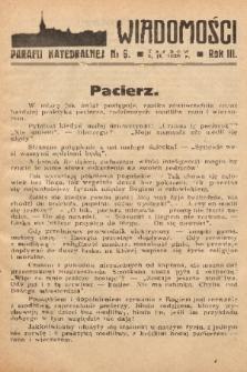 Wiadomości Parafii Katedralnej. 1939, nr 6