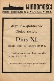 Wiadomości Parafii Katedralnej. 1939, nr 7