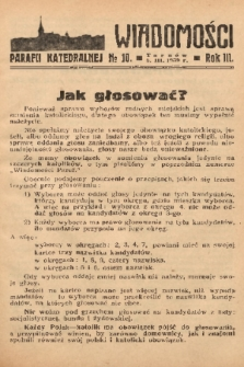 Wiadomości Parafii Katedralnej. 1939, nr 10