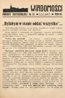 Wiadomości Parafii Katedralnej. 1939, nr 11