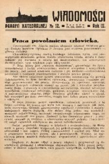 Wiadomości Parafii Katedralnej. 1939, nr 12