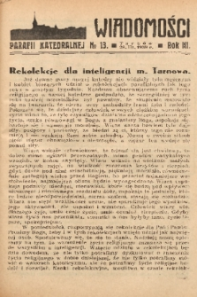 Wiadomości Parafii Katedralnej. 1939, nr 13