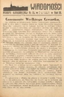 Wiadomości Parafii Katedralnej. 1939, nr 14