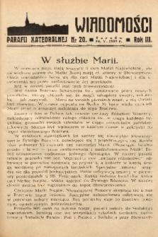 Wiadomości Parafii Katedralnej. 1939, nr 20