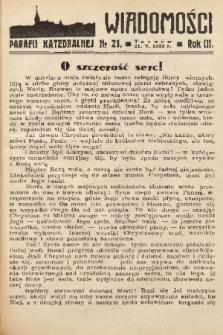 Wiadomości Parafii Katedralnej. 1939, nr 21