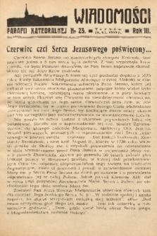 Wiadomości Parafii Katedralnej. 1939, nr 25