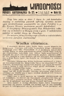 Wiadomości Parafii Katedralnej. 1939, nr 27