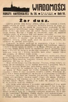 Wiadomości Parafii Katedralnej. 1939, nr 30