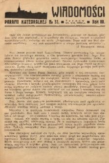 Wiadomości Parafii Katedralnej. 1939, nr 31