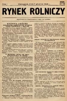 Rynek Rolniczy. 1935, nr 18