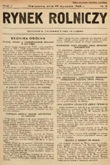 Rynek Rolniczy. 1936, nr 8