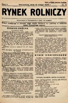 Rynek Rolniczy. 1936, nr 11