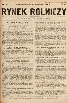 Rynek Rolniczy. 1936, nr 29
