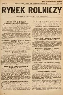 Rynek Rolniczy. 1936, nr 31