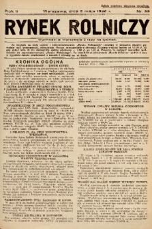 Rynek Rolniczy. 1936, nr 33