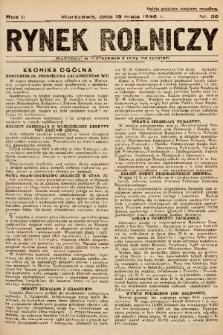 Rynek Rolniczy. 1936, nr 36