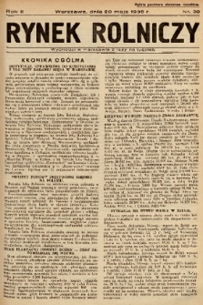 Rynek Rolniczy. 1936, nr 38