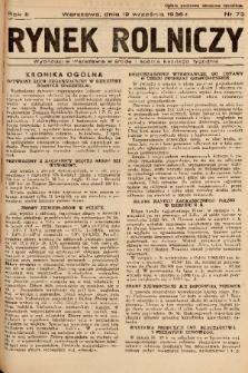 Rynek Rolniczy. 1936, nr 73