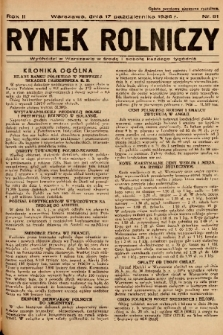 Rynek Rolniczy. 1936, nr 81