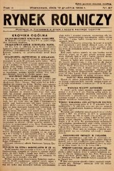 Rynek Rolniczy. 1936, nr 97