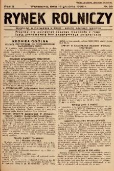 Rynek Rolniczy. 1936, nr 98
