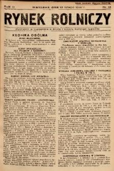 Rynek Rolniczy. 1937, nr 13