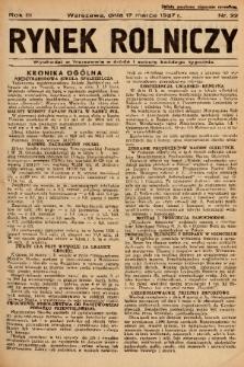 Rynek Rolniczy. 1937, nr 22
